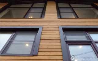 Облицовка фасада планкеном