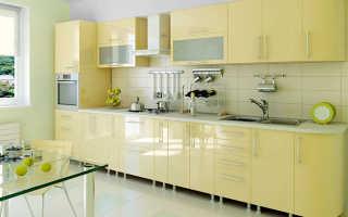 Виды материалов для кухонных гарнитуров