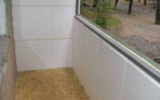 Утепление балкона пенопластом, видео