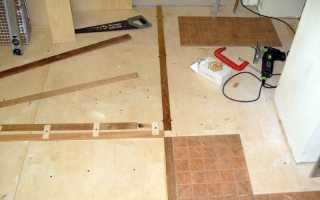 Укладка плитки на фанерный пол