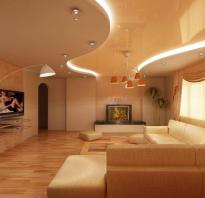 Двухуровневые потолки с подсветкой фото