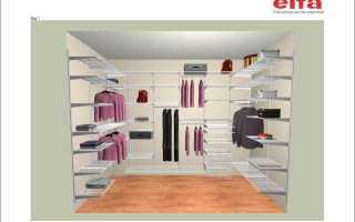 Размер гардеробной комнаты