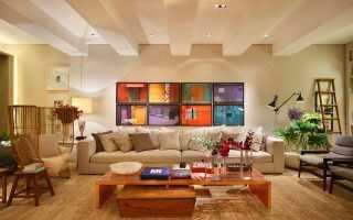 Бежевый цвет стен в интерьере