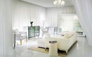 Белая мебель цвет стен