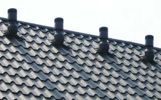 Вентиляция в доме с плоской крышей