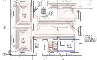 Схема отопления дома теплыми полами