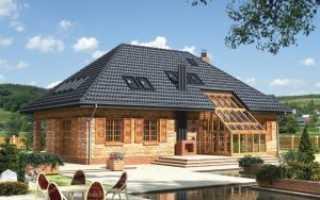 Вальмовая крыши частных домов
