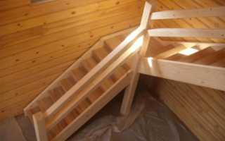 Размеры поворотной лестницы на 90 градусов