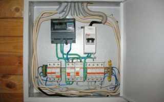 Схема ввода электричества в частный дом 220