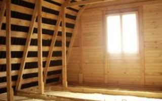 Как утеплить чердак деревянного дома