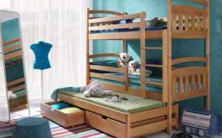 Трехэтажная кровать для детей